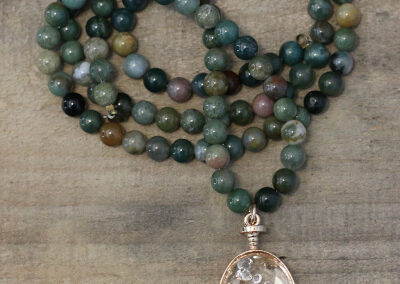 Art in Green Bank, Pocahontas County, West Virginia, shop, shopping, gift, gifts, presents, mala bead necklace, self care, meditation, Jasper stone, healing